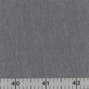 Medium gray, medium weight, brushed denim.