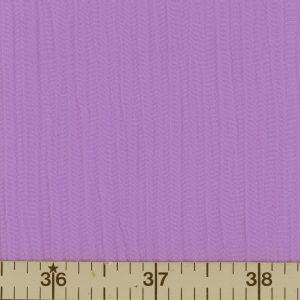 Violet, solid color crinkle crepe fabric.