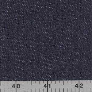 Navy blue, medium weight, denim.