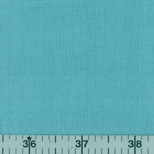 Solid aqua fabric with subtle plaid.