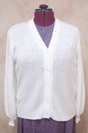 A white women's sweater.