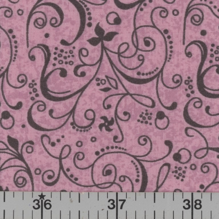 Pink fabric with floral fabric.