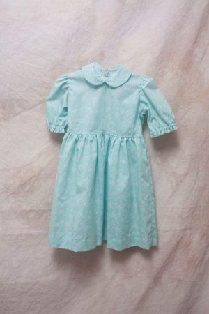 A mint green dress.