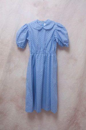 A blue dress.