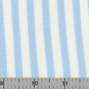 Blue and white striped fabric.