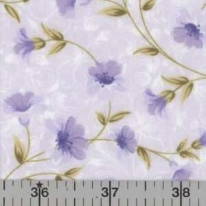 Lavender floral fabric.