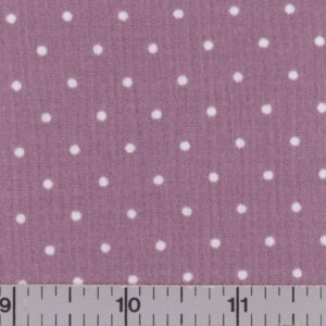 Mauve fabric with white dots.